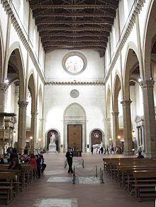 #Italy  #Florence #cathedrals Basilica of the Holy Cross  Basilica di Santa Croce (Italian)  Interior towards the main entrance
