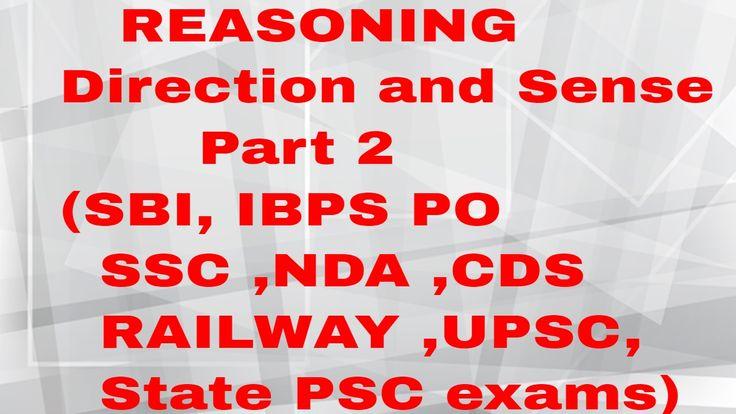 Direction and Sense Part 2 (SBI, IBPS PO ,SSC ,NDA ,CDS ,RAILWAY ,UPSC, ...