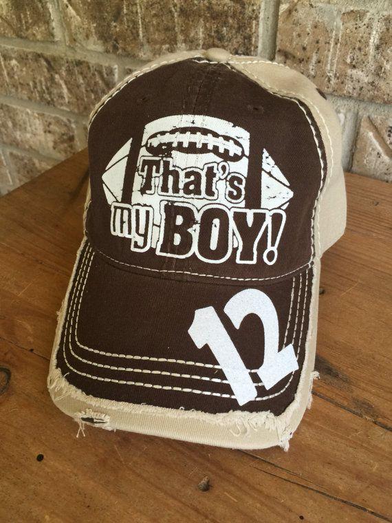 Customized Football Mom Cap, That's My Boy, Fun Football Cap, Football Mom Hat…