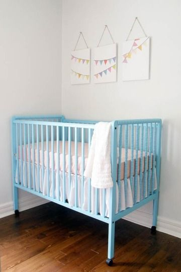 baby blue crib