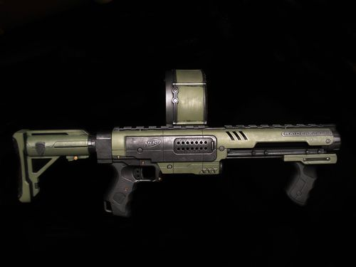 Heavy Metal Nerf Raider CS 35 Rampage Halo Prop Gun Custom Pro Painted | eBay
