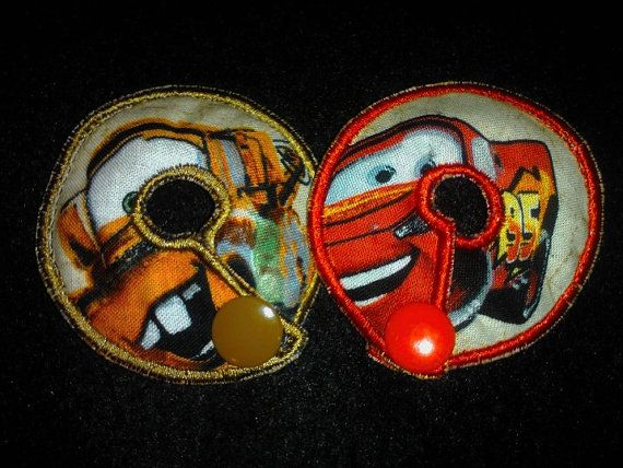 Lightning McQueen and Mater G tube pads by CreationsByWinslow