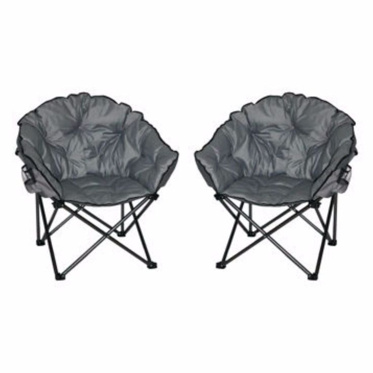 Camping Chair Padded Camp Supplies Moon Seat 2 Pack