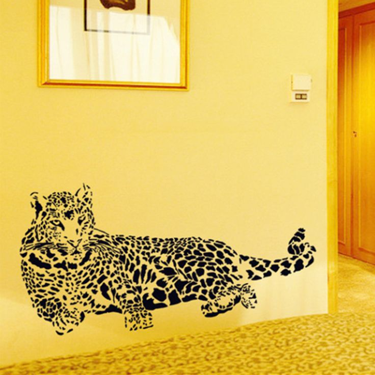 #Wall_Stickers #Cheetah_Leopard #3D_Removable_Wall_Decals #Home_Decor_Stickers #Free_Shipping