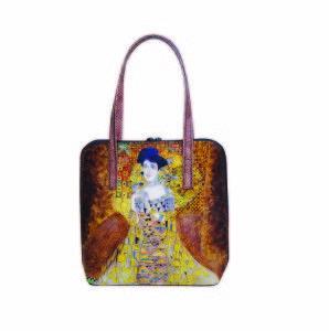 Ručne maľovaná kabelka 8192 inšpirovaná motívom Gustav Klimt -ADELA