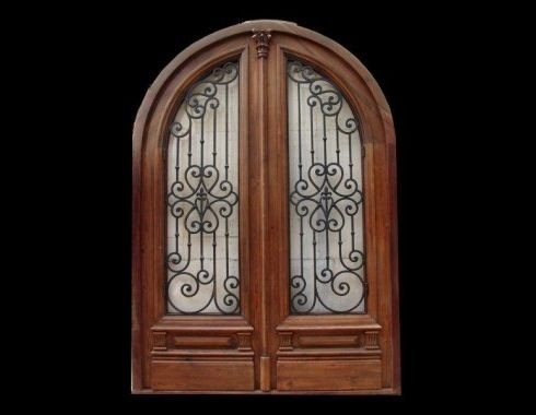Beautiful Double Arched Entry Door