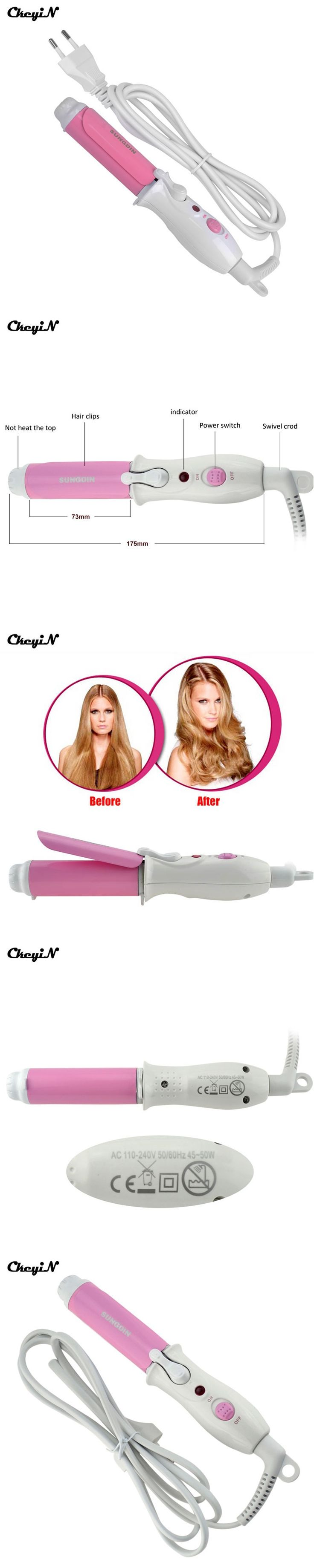 CkeyiN Mini Portable Electric Hair Curler Personal Hair Styling Tools Hair Waver Wave Machine Professional Hair Curling Iron