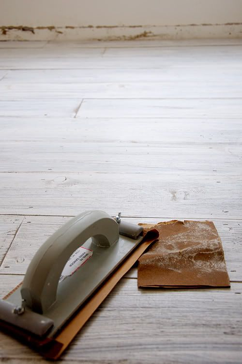"DIY - new ""old"" whitewashed floor"