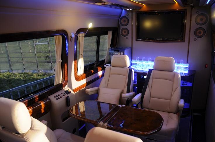 Interior Black Limo Mercedes Sprinter By The Nirvanesque Cote D 39 Azur