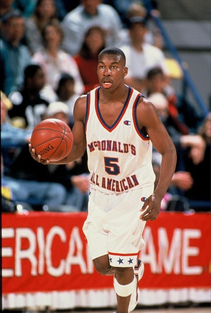 Baron Davis Football And Basketball Basketball Jones Nba Pictures