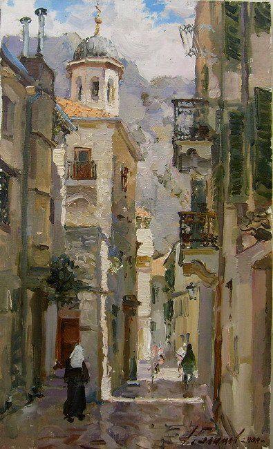Monténégro. Kotor. La petite rue de la vieille grêle. © Azat Galimov PINTOR: Azat Galimov