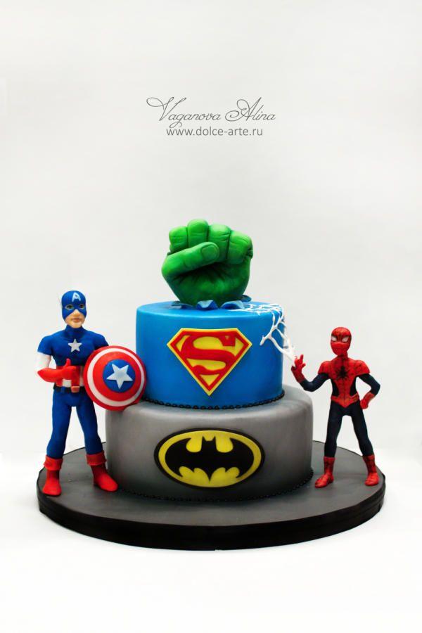 superheroes birthday cake - Cake by Alina Vaganova
