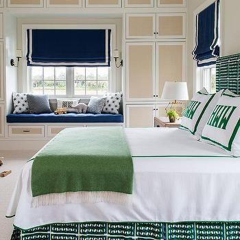 Blue And Green Boy Bedroom With Fabric Cabinet Doors · Kinderzimmer EinrichtungZimmer Für Große JungsGrüne Kinderzimmer ...