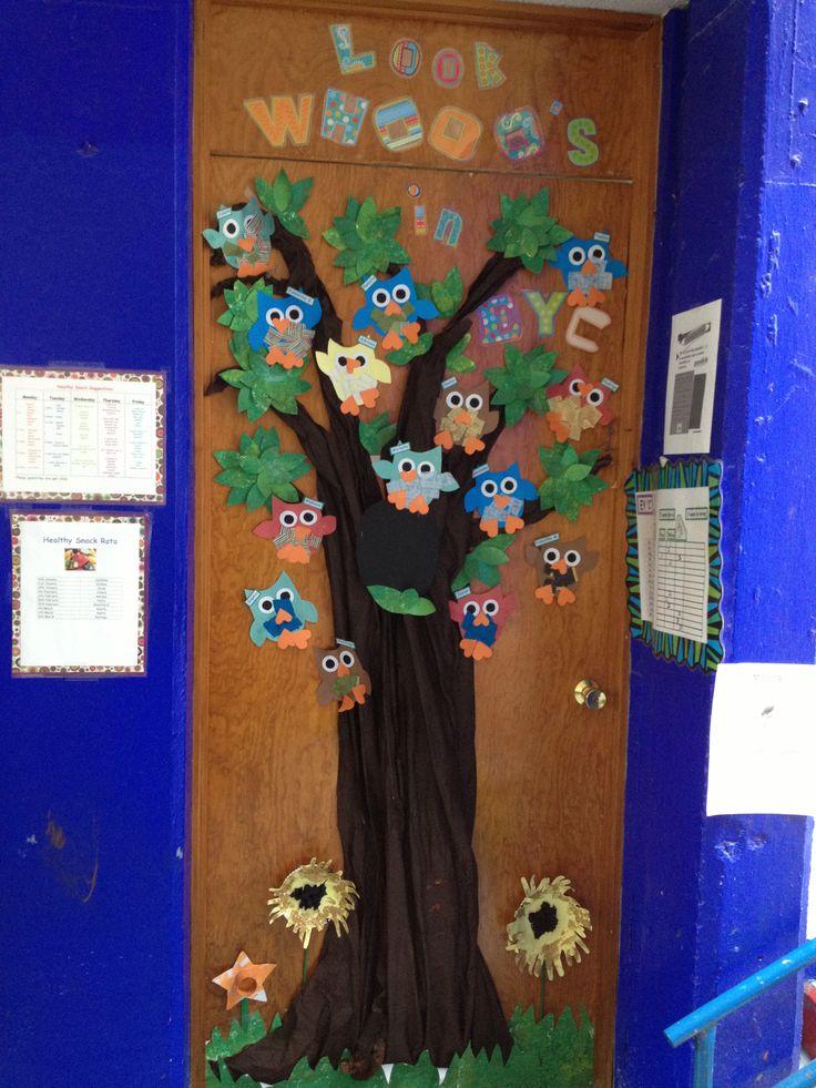 Best 25 owl door decorations ideas on pinterest owl for Door decoration for nursery class
