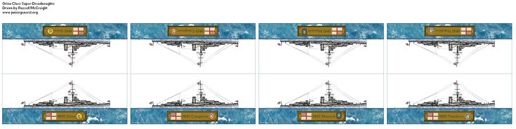 British Orion Class Super-Dreadnoughts (Micro-Scale)