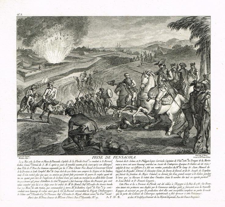 Prise de Pensacola le 9 mai 1781