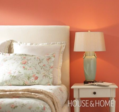 coral serenade by behr is our paint color pick