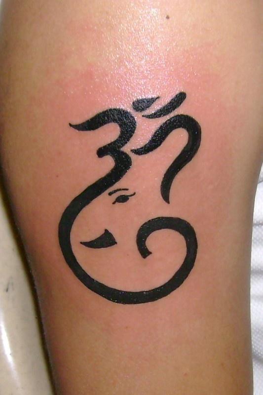 elephant & om tattoo                                                                                                                                                      More