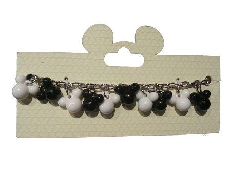 Disney Charm Bracelet - Mickey Mouse Icons - Black and White