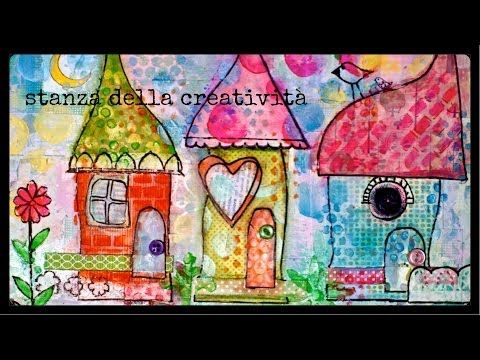 ▶ mixed media art collage: three little hauses - YouTube