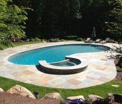Kidney Gunite Pool and Spa