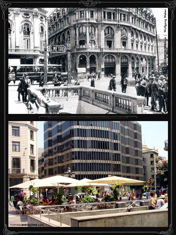 BARCELONA. Entrada el metro Plaza del Angel