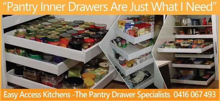 Pantry Inner Drawers - Easy Access Kitchens - Inner Drawer Specialists
