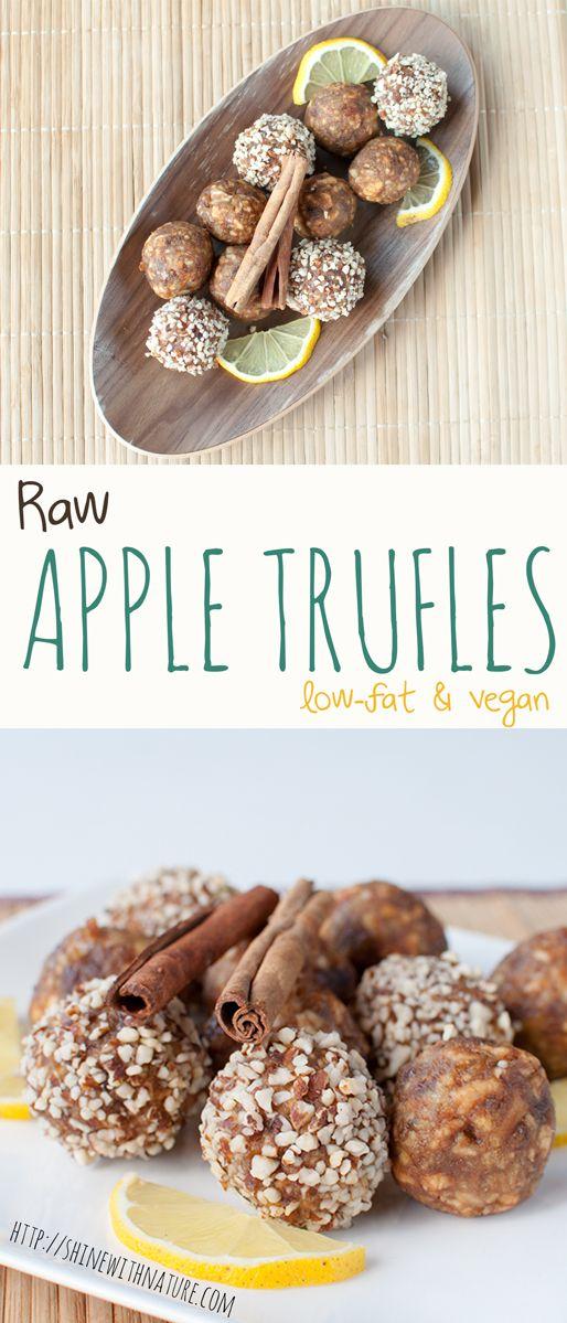 Raw Apple Truffles | ShineWithNature.com | #lowfat #801010 #vegan