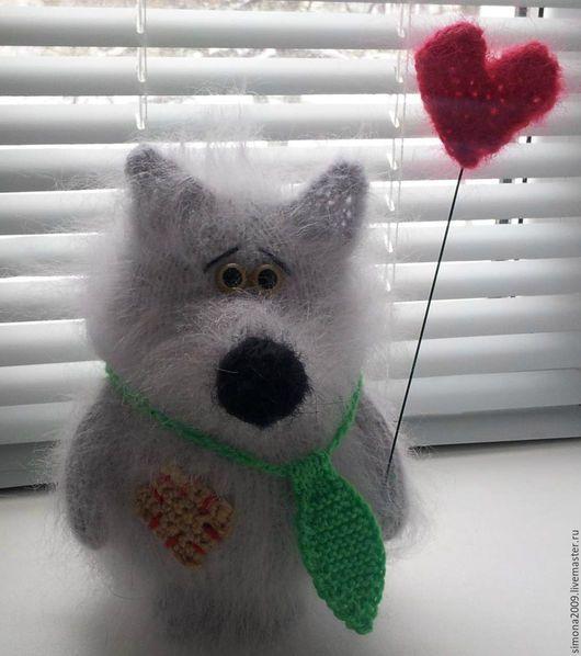 Игрушки животные, ручной работы. Ярмарка Мастеров - ручная работа. Купить Одинокий Волк мечтает познакомиться!!! игрушка, сувенир, подарок.. Handmade.