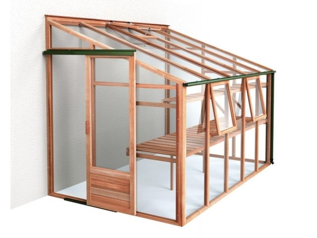 Idea for basic lean-to greenhouse structure