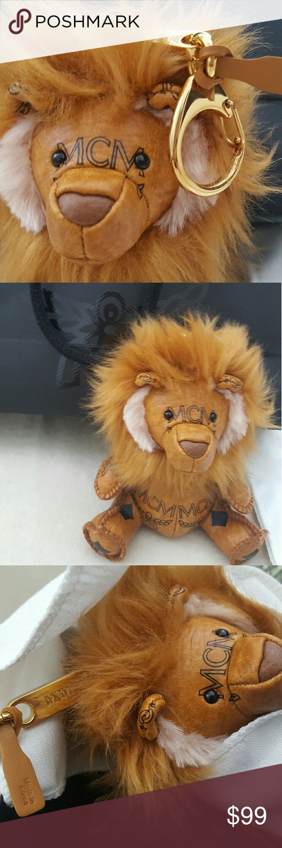 """MCM Lion charm keychain MCM keychain with monogrammed leather lion,spring-lock clasp,length 4"""". Lion keychain si brand new,no tags. I got it for Christmas last year,comes with dust bag ,box and wrapping paper. It was purchased in department store in NYC. No trades mcm Accessories"""