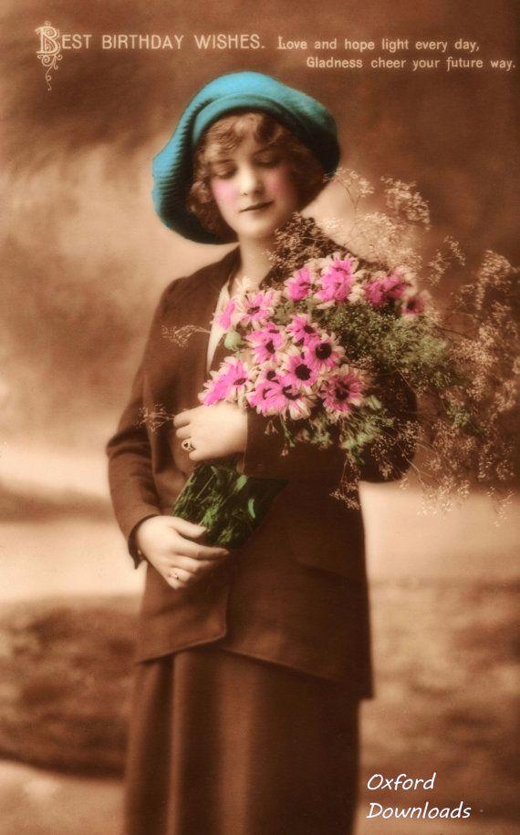 Edwardian Lady Happy Birthday Card Digital by OxfordDownloads https://www.etsy.com/uk/listing/270382742/edwardian-lady-happy-birthday-card?utm_source=Pinterest&utm_medium=PageTools&utm_campaign=Share