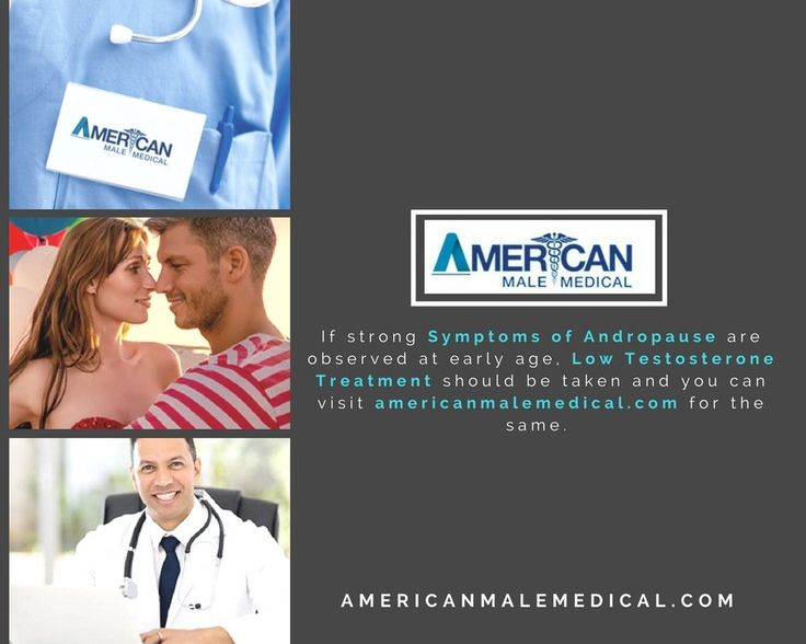 If strong symptoms of andropause are observed at early age, low testosterone treatment should be taken and you can visit https://americanmalemedical.com/ for the same.