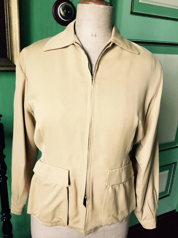 Een persoonlijke favoriet uit mijn Etsy shop https://www.etsy.com/listing/269157239/1950s-gabardine-yellow-ladies-jacket
