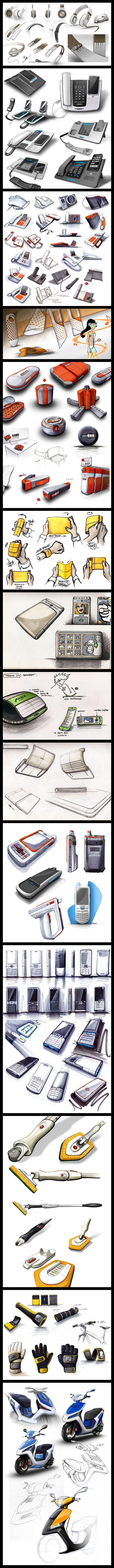 Sketchbook samples by jules parmentier, via Behance.