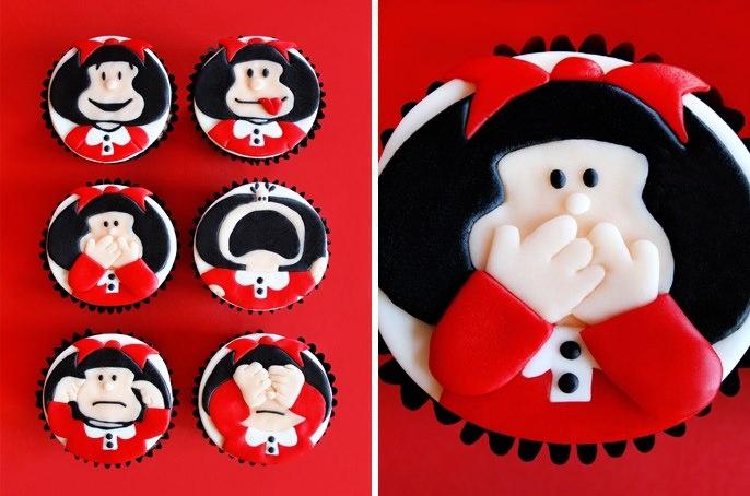 """Cupcakes """"Mafalda"""""""
