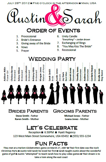 Best  Wedding Program Templates Ideas On   Fan