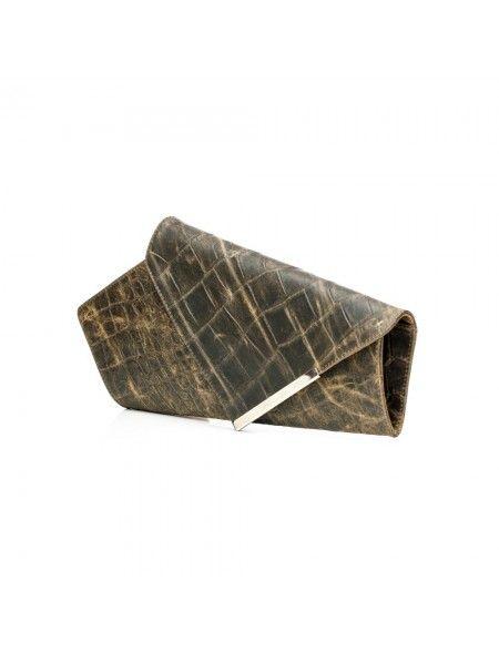 Geanta plic din piele naturala croco  * Piele natura interior/exterior  * Design fresh, foarte stylish  * Tinuta impecabila