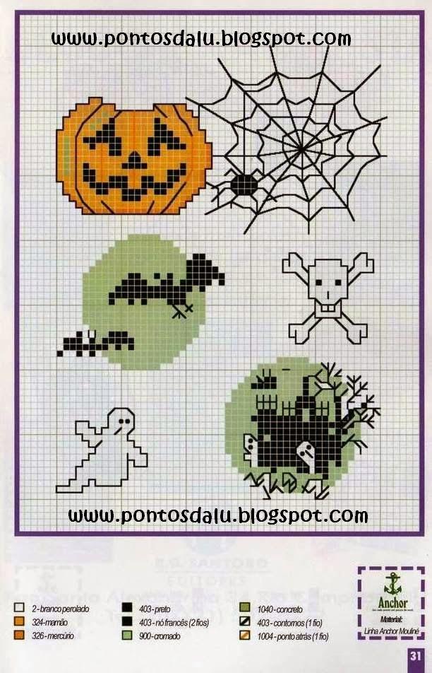 Mejores 15 imágenes de Halloween Cross Stitch ideas en Pinterest ...