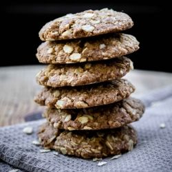 Healthy Anzac Cookies made with Spelt flour
