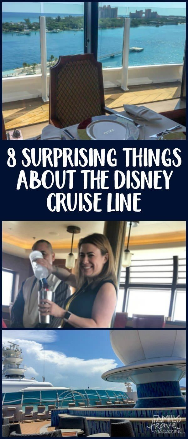 8 Surprising Things About the Disney Cruise Line, including fish extenders, fine dining, rotational dining, and on-board booking benefits.
