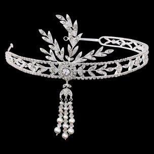 Gatsby headband Great Gatsby forehead band 1920s Art Deco style wedding bridal hair accessories vintage headpiece on Etsy, $240.00