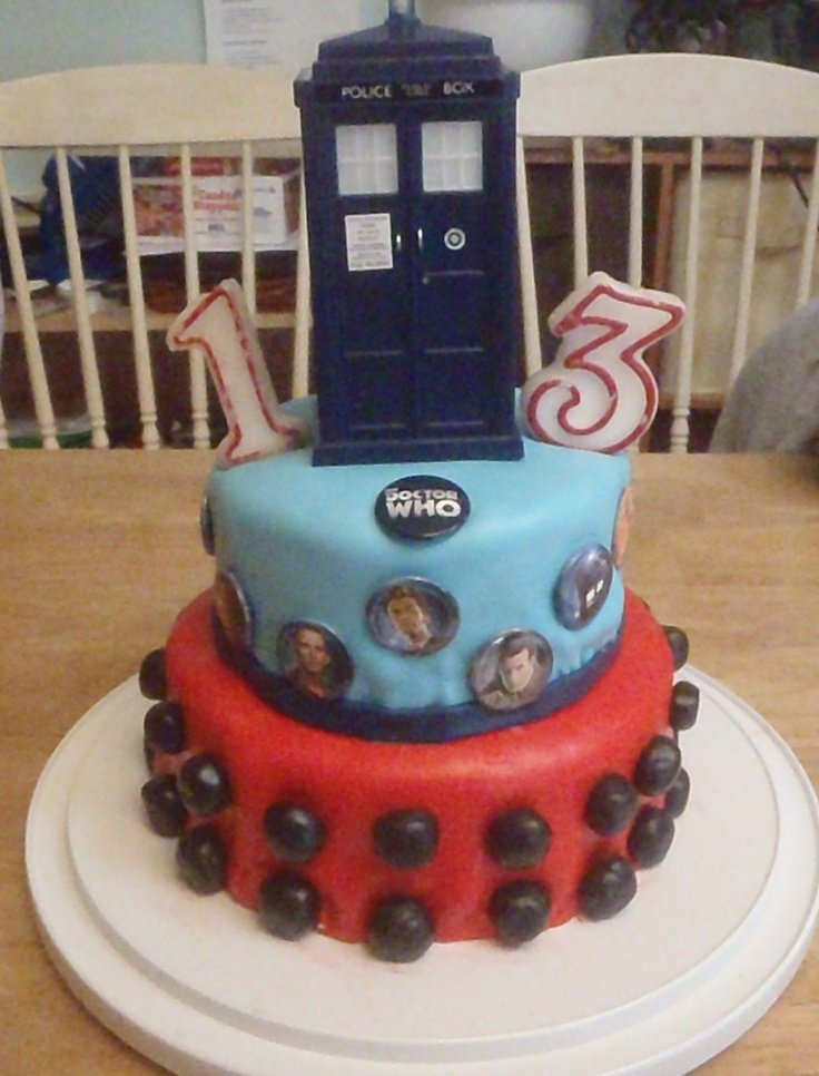 Will's 13th Birthday Doctor Who Cake