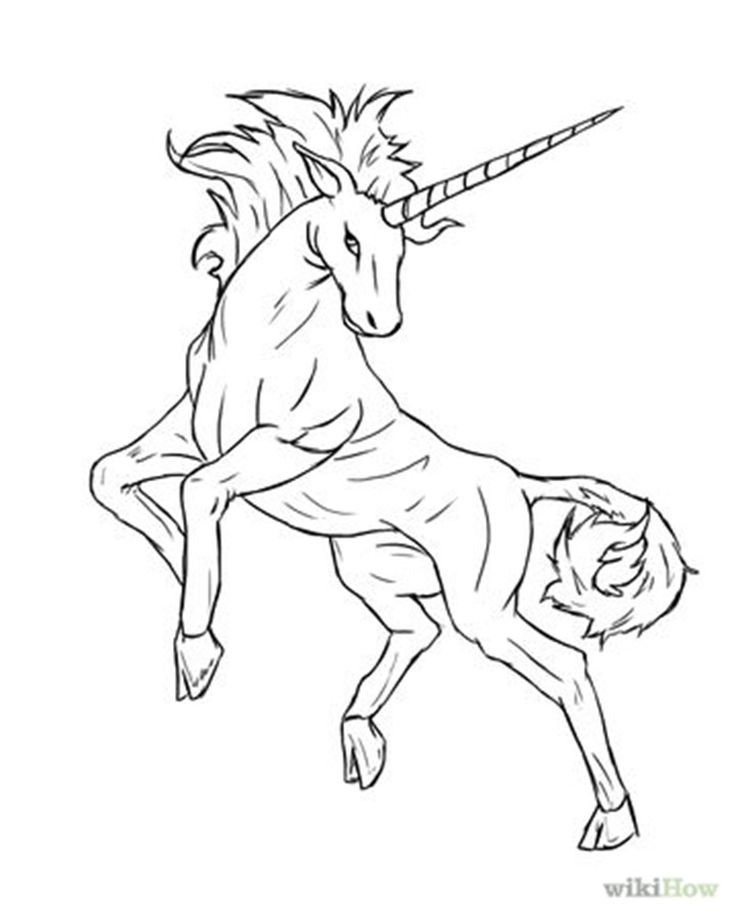 unicorn head how to draw