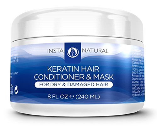 InstaNatural Keratin Hair Mask Treatment – Professional At Home Brazilian Conditioner Treatment for Dry & Damaged Hair – Smoothing & Strengthening Straight Hair Reconstructor Formula – 8 OZ - http://best-anti-aging-products.co.uk/product/instanatural-keratin-hair-mask-treatment-professional-at-home-brazilian-conditioner-treatment-for-dry-damaged-hair-smoothing-strengthening-straight-hair-reconstructor-formula-8-oz/