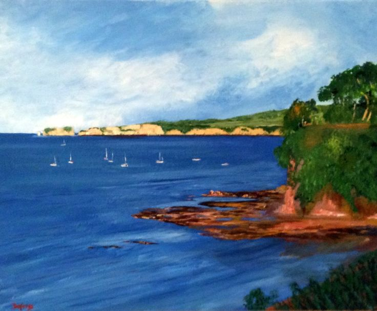 Middle Beach, Studland, Dorset by Gerry Defries. Buy it now: http://www.artpal.com/collectableart