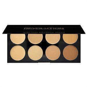 Makeup Revolution Ultra Cover and Concealer Palette Light Medium 10g