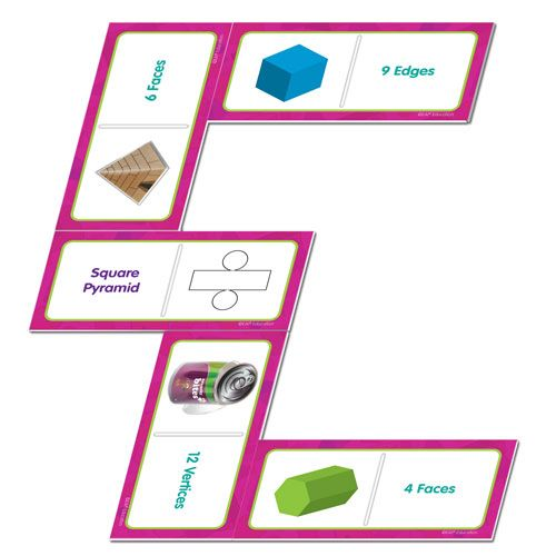 71 best geometry images on pinterest geometry magnets and geomodel everyday shapes dominoes identify characteristics of 3d shapes with these fun dominoes create fandeluxe Image collections