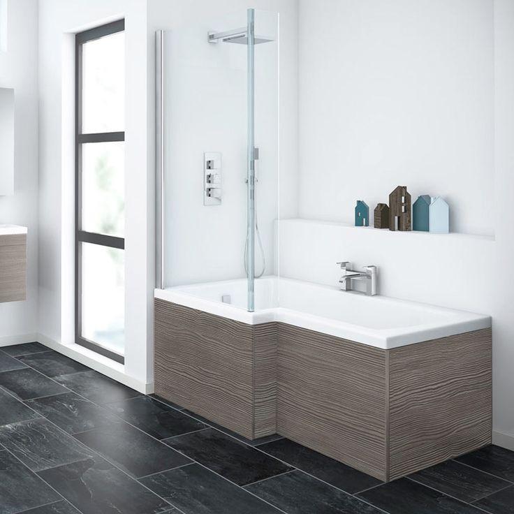 Brooklyn Grey Avola Shower Bath 1700mm