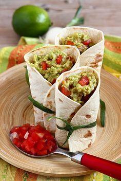 Wraps al guacamole e pollo | MIEL & RICOTTA